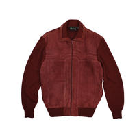 "USED ""70-80'S CORONET CASUALS"" KNIT SUEDE JACKET"