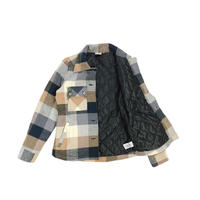 "LADIES USED ""KAVU"" PLAID SHIRT JACKET"