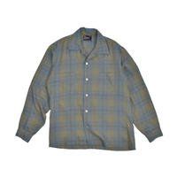 "USED ""THE ESSLEY SHIRT"" OPEN COLLER PLAID SHIRT"
