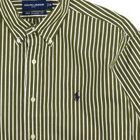"USED ""RALPH LAUREN GOLF"" STRIPE B.D. SHIRTS"