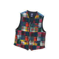 "USED ""GAP"" PATCHWORK QUILTING VEST"
