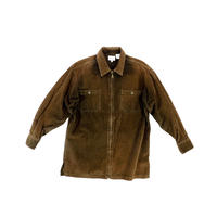 "USED ""WILLI SMITH"" ZIP CORDUROY SHIRT"