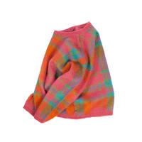 """LADIES USED """"GALLAGHER"""" MOHAIR TARTAN CHECK KNIT"""