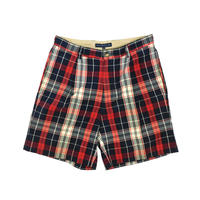 "USED ""TOMMY HILFIGER"" COTTON PLAID SHORTS"