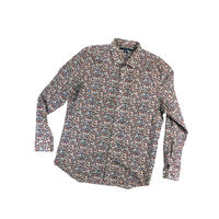 "USED ""PERRY ELLIS"" COTTON PRINT L/S SHIRTS"