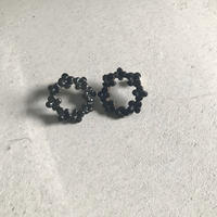 N-150 BUFFALO HORN   FLOWER RING  EARRINGS