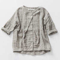 17-S009H LINEN TWEED BLOUSE