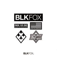BLKFOX STICKER SET 02 / BLACK × WHITE
