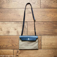 CaBas N°59 Micro Shoulder small  [Khaki beige / Navy]