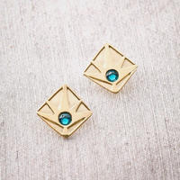 Horizon Earring / GREEN <受注生産>