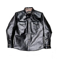 SIMONS Leather Western  Shirt