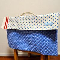 防災頭巾カバー(背もたれタイプ・持ち手付き)