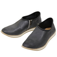 7CCR (セブンシーシーアール) 7171 Slip-on With Zip Hand Made Shoes BLACK CALF