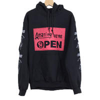 ANOKHA アノーカ Amazing WE'RE OPEN パーカー BLACK