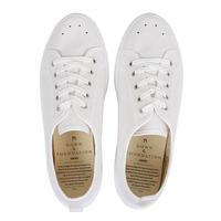 Gown & Foundation × BLU-STAR キャンバス スニーカー WHITE