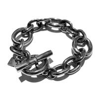 """on the sunny side of the street """"Oval Long & Short Chain Bracelet"""""""