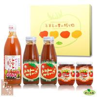桃太郎セット ジュース・ケチャップx2・ジャムx2 大分県荻町トマト農家めぐみ会