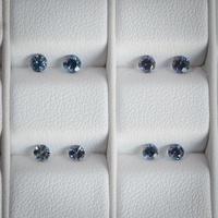 【 受注製作 】カラーチェンジ・ガーネット(ベキリーブルー)直径約2.8mm, 0.25ct Pt900一粒ピアス