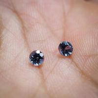 【Nさま専用ページ】カラーチェンジ・ガーネット(ベキリーブルー)径3.6mm 0.50ct Pt900イヤリング