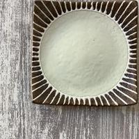 マカロンシリーズ 5寸正方皿 クリーム 1