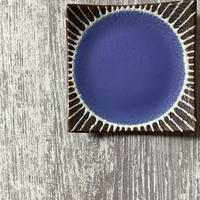 マカロンシリーズ 5寸正方皿 空色 4