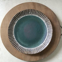 マカロンシリーズ 27㎝平皿 カーサグリーン