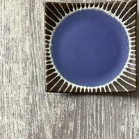 マカロンシリーズ 5寸正方皿 空色 3