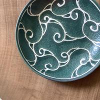 アラベスクシリーズ 6寸皿 カーサグリーン  1