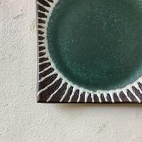 マカロンシリーズ 5寸正方皿 カーサグリーン