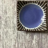 マカロンシリーズ 3寸正方皿 空色 4