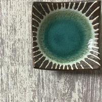 マカロンシリーズ 3寸正方皿 ペルシャ 2