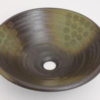灰釉点紋(中)手洗い鉢