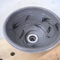 絵唐津草文(小)手洗い鉢