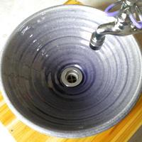 紫ガラス(中)手洗い鉢