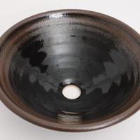 黒天目(中)手洗い鉢