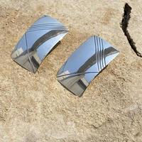 Sculpture designed Rectangle silver plate  pierce
