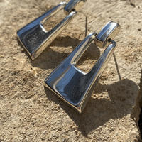 Trapezoid Swing Knocker silver pierce