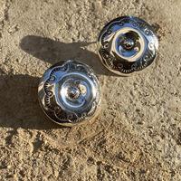 Sculpture Designed Solid Circle silver pierce