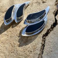 Double Flow silver earring