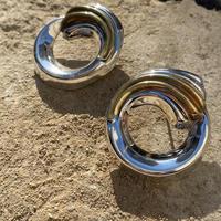 Round wave silver pierce