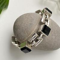 Onyx Square Chain Bracelet