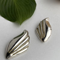 Gold Stitch Wing Earring