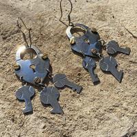 Heart Shaped Lock Designed silver pierce