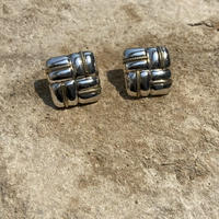 Sterling Silver Braided Square Pierce