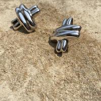 Double Cross Wave Design silver pierce