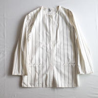 VUOKKO stripe collarless Jacket