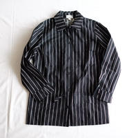 Marimekko 1976  black stripe shirt/jacket