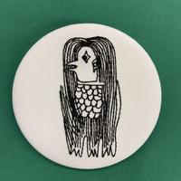 アマビエ様 刺繍ピンバッチ