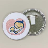 マタニティマーク刺繍缶バッチ 75mm
