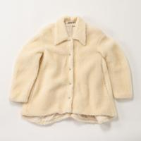 A.W.A.K.E / Faux Shearling Rounded Snap Button